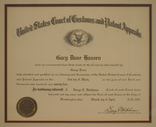 US Court of Customs and Patent Appeals