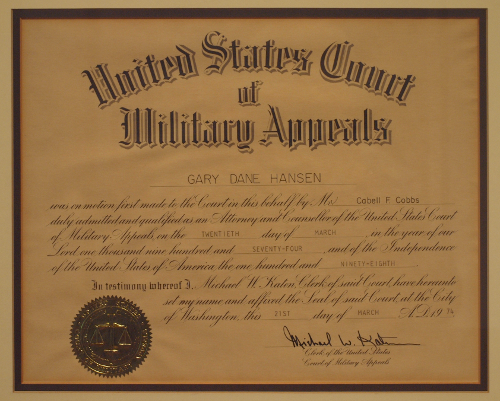 US Court of Military Appeals